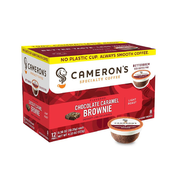 Cameron's Chocolate Caramel Brownie Single-Serve Eco Coffee Pods (Box of 12)