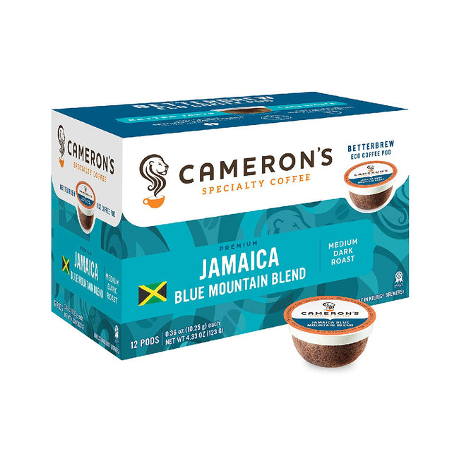 Cameron's Jamaica Blue Mountain Single-Serve Coffee Eco Pods (Box of 12)