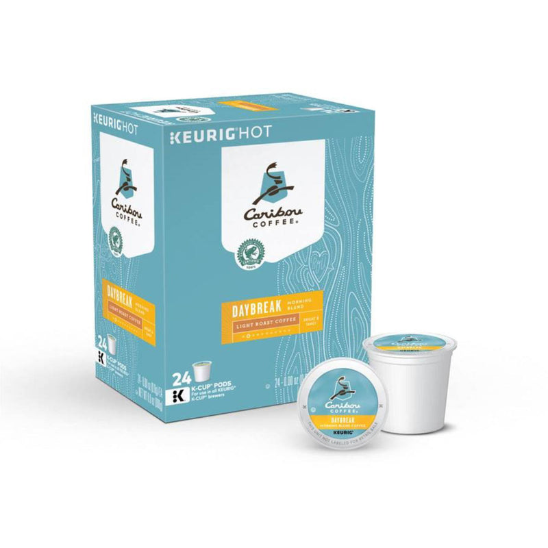 Caribou Daybreak Morning Blend K-Cup® Recyclable Coffee Pods (Box of 24)