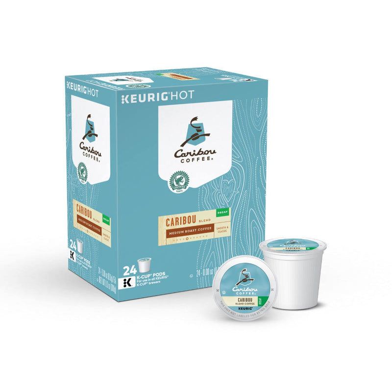 Caribou Decaf Blend K-Cup® Recyclable Coffee Pods (Case of 96)