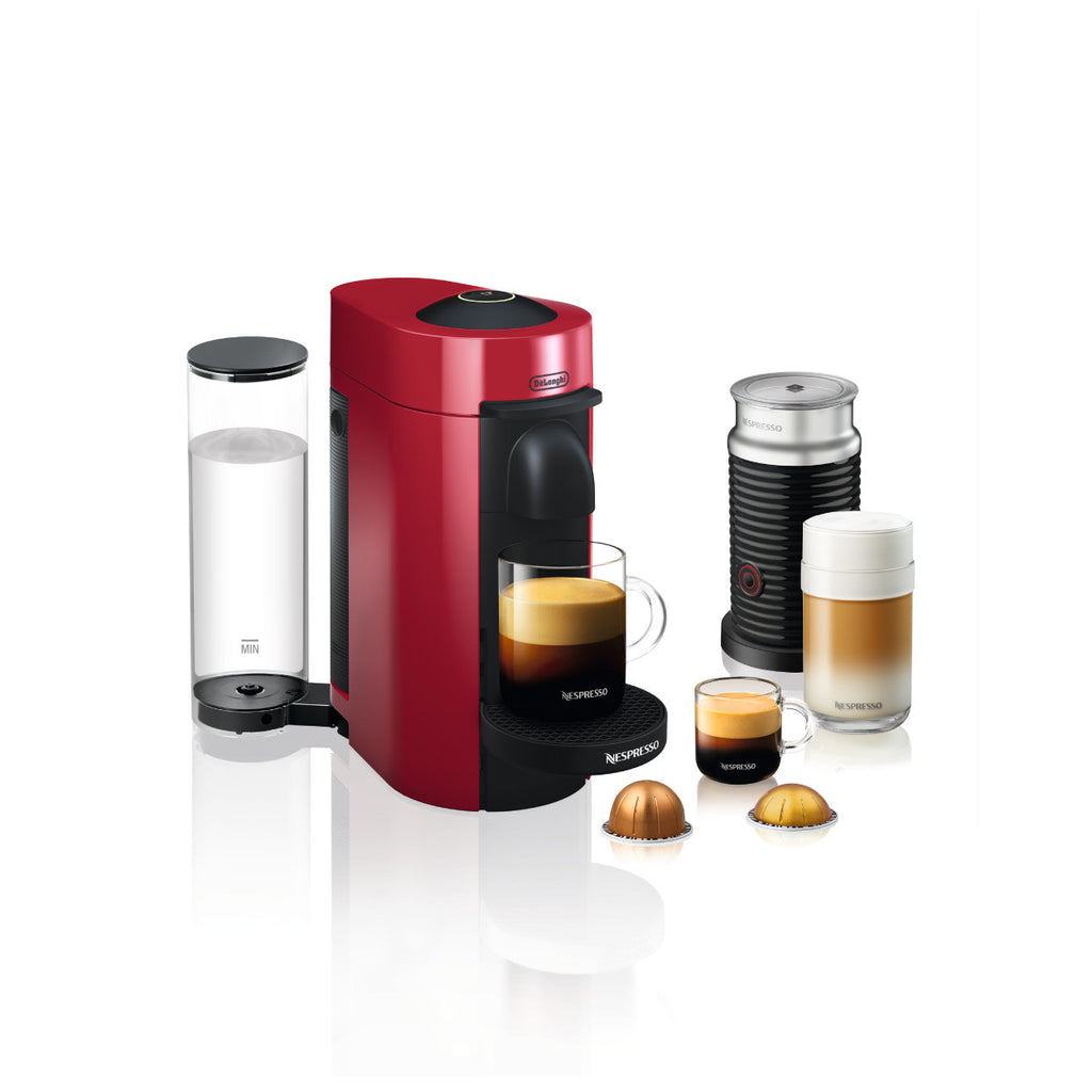 Nespresso by DeLonghi VertuoPlus With Aerroccino 3 in Red