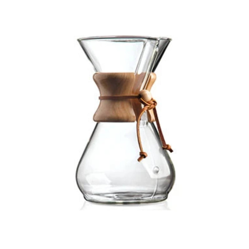 Chemex Classic 8 Cup Manual Pour Over Coffee Maker