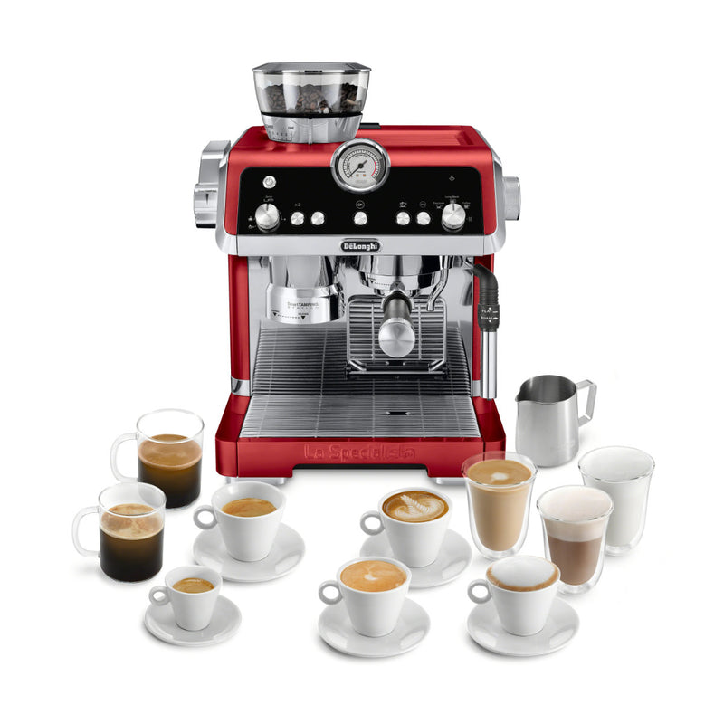 DeLonghi La Specialista Semi-Automatic Espresso Machine EC9335R (Red)