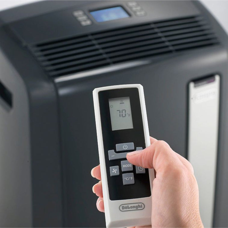 DeLonghi Pinguino Plus Portable Air Conditioner w/ Heat Pump & Remote (14, 000 BTU - PACAN140HPECB)