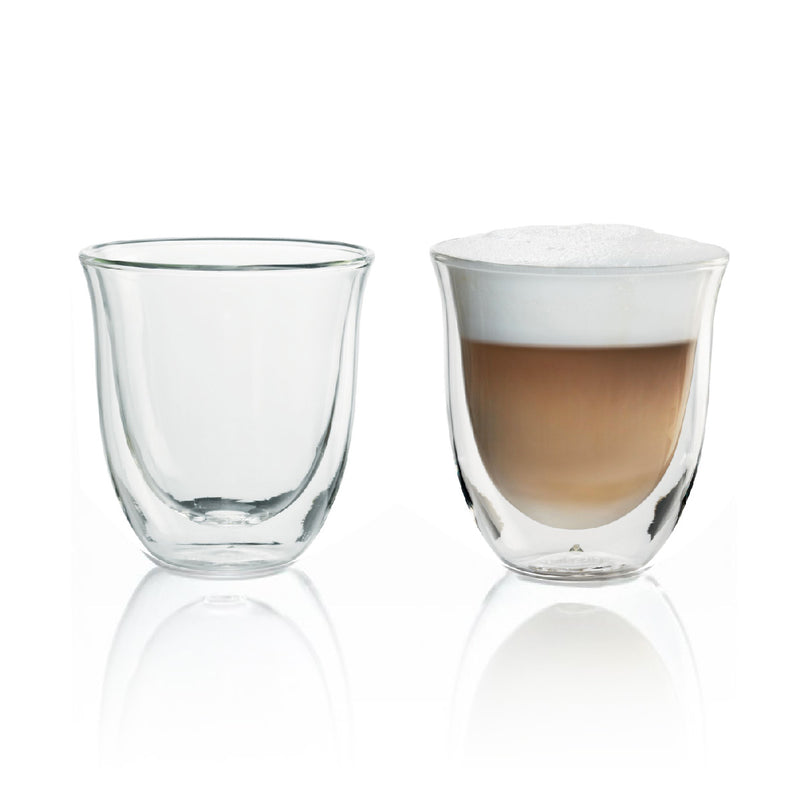 DeLonghi Double Walled Cappuccino & Coffee Glasses (Set of 2)