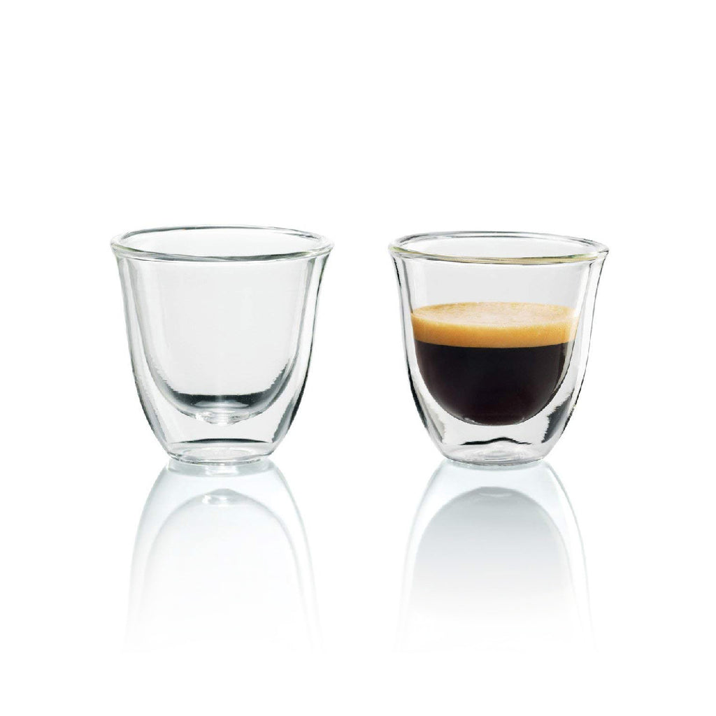 DeLonghi Double Walled Espresso Glasses (Set of 2)