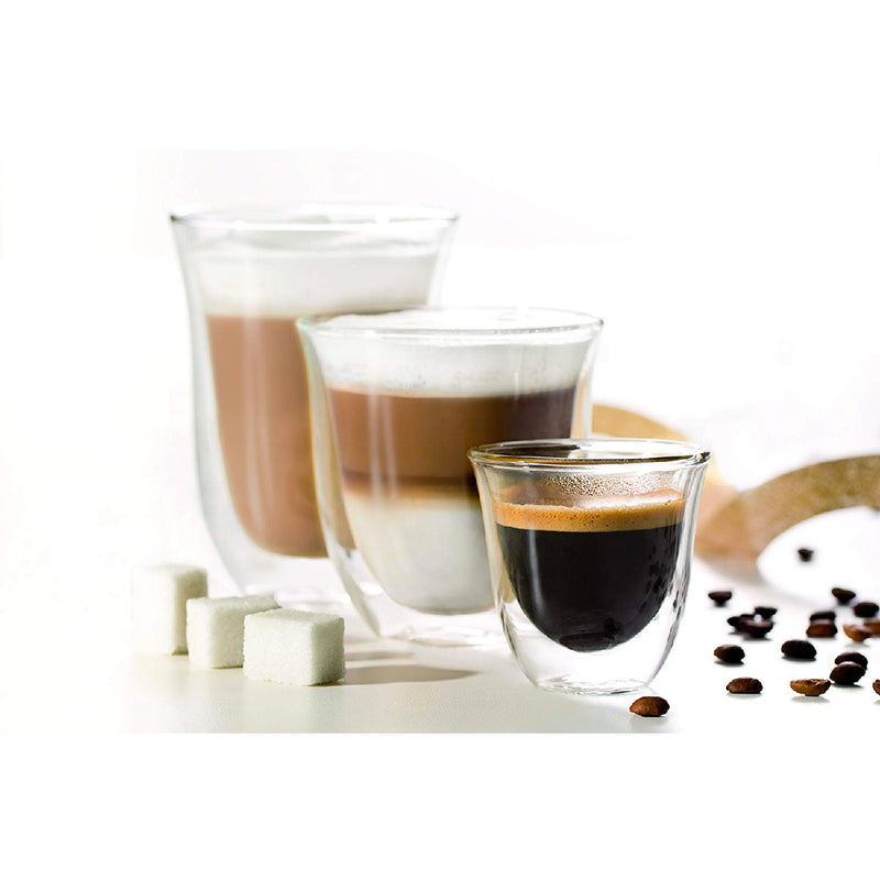 DeLonghi Double Walled Espresso Glasses SHot