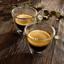 DeLonghi Double Walled Espresso Glasses (Set of 2) Lifestyle