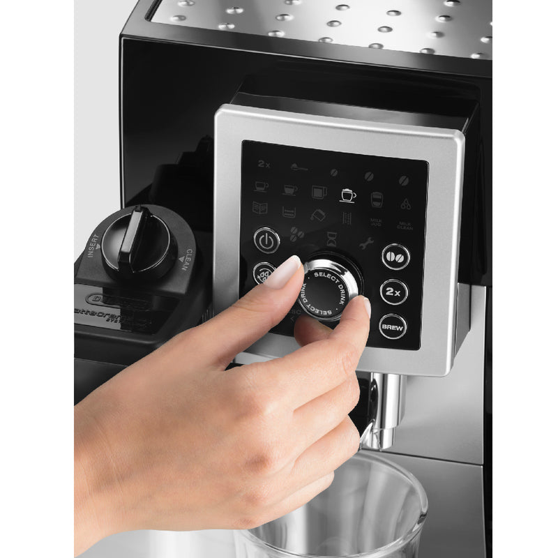 DeLonghi MAGNIFICA S Capuccino Smart Super Automatic with Lattecrema System (ECAM23260SB) Turning Wheel