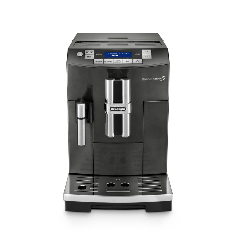 DeLonghi PrimaDonna BLACK Deluxe with Single Touch Cappuccino (ECAM28465B) Front