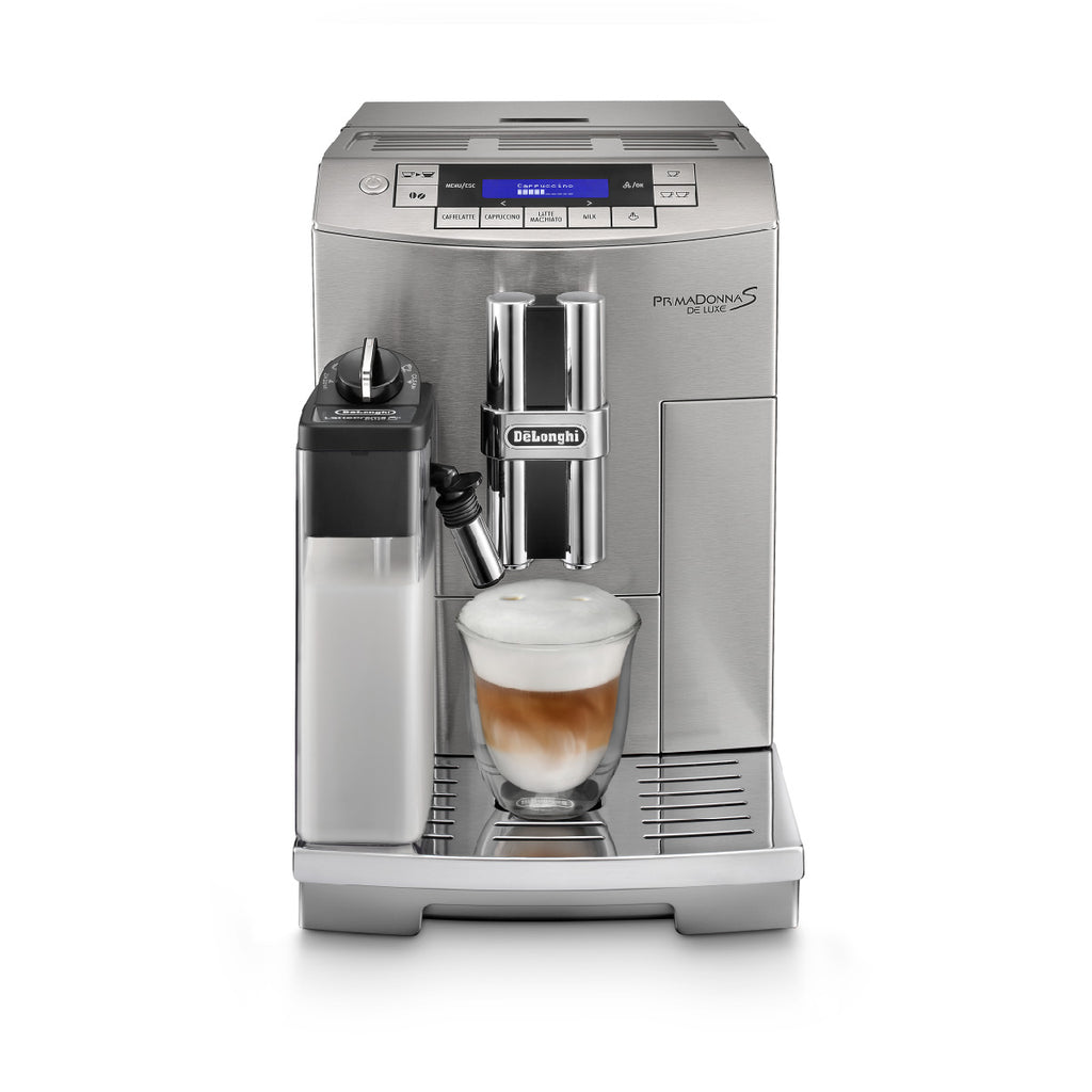 DeLonghi PrimaDonna S Automatic Deluxe Single Touch Cappuccino & Espresso Machine (ECAM28465M)