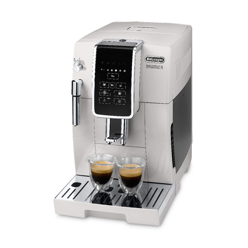 DeLonghi Dinamica Super Automatic Espresso & Coffee Machine (ECAM35020W  / White) Espresso