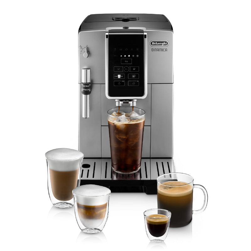 DeLonghi Dinamica With Adjustable Frothing Wand Super Automatic Espresso & Coffee Machine (ECAM35025SB  / Silver)