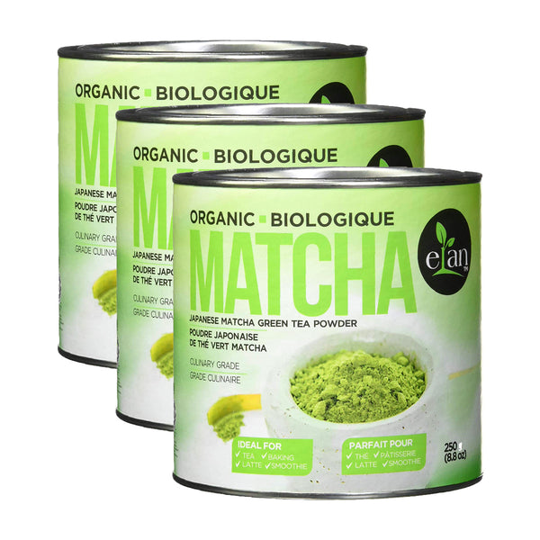 Elan Organic Japanese Matcha Green Tea Powder 3 Pack (750g / 26.5oz)