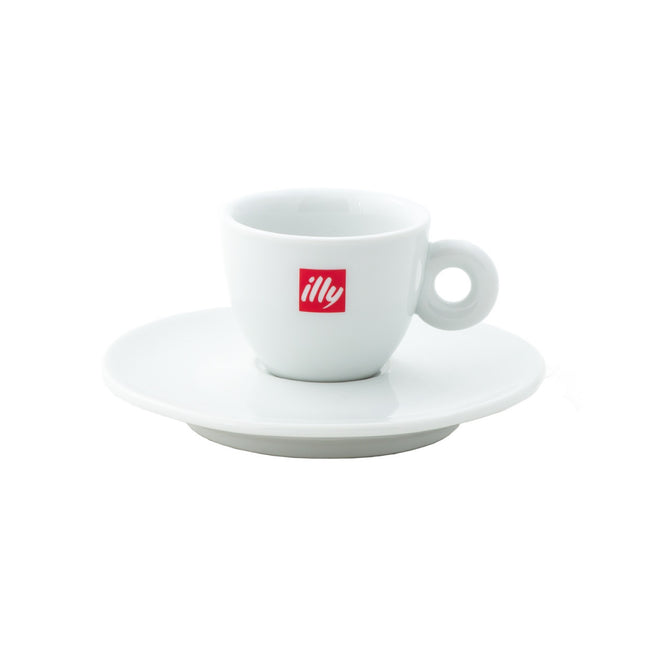 Illy Espresso Cups & Saucers
