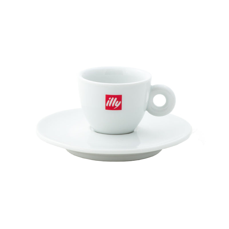 Illy Espresso Cups & Saucer (Set of 12)