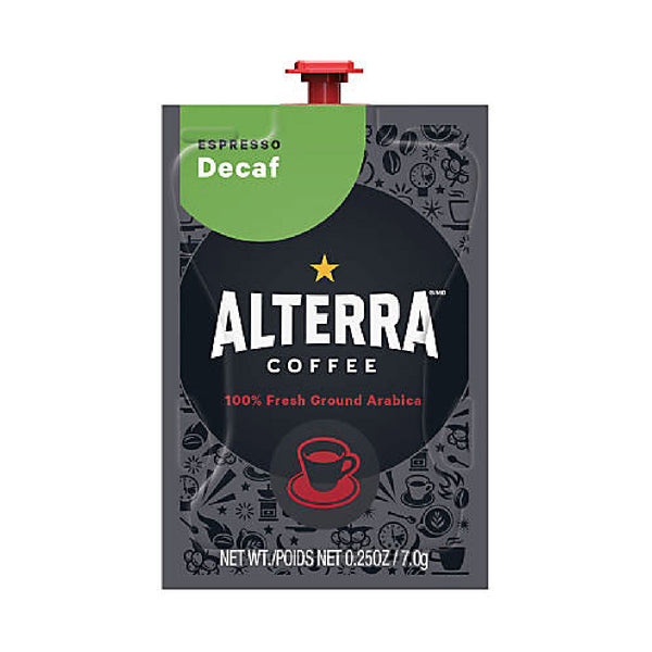 Flavia Alterra Espresso Decaf Dark Roast Coffee Freshpacks (Case of 80)