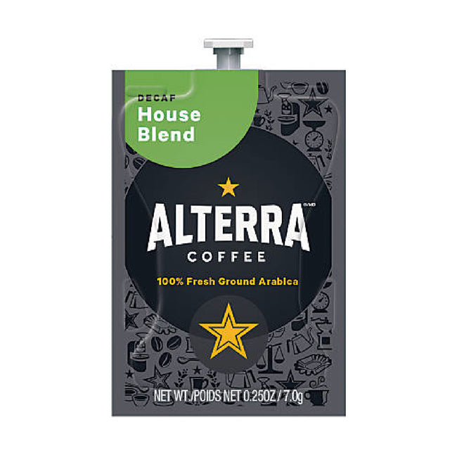 Flavia Alterra House Blend Decaf Light Roast Coffee Freshpacks (Case of 100)