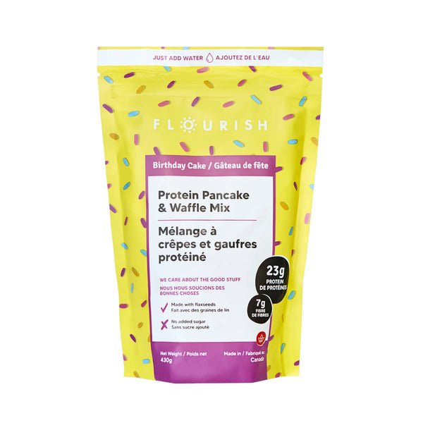 Flourish (Limited Edition) Birthday Cake Protein Pancake & Waffle Mix