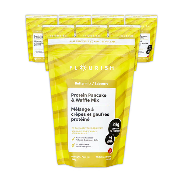 Flourish Buttermilk Protein Pancake & Waffle Mix (Case of 8)