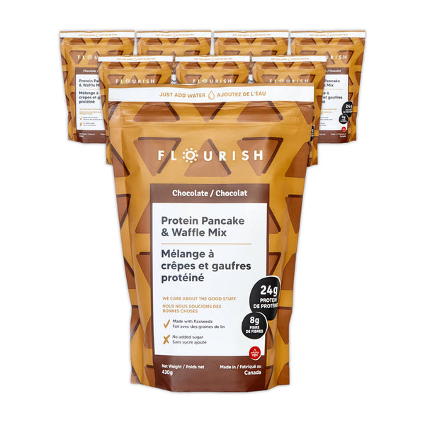 Flourish Chocolate Protein Pancake & Waffle Mix (Case of 8)