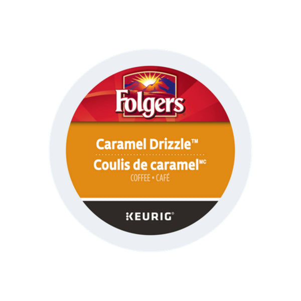 Folgers Gourmet Selections Caramel Drizzle K-Cup® Recyclable Pods (Case of 96)