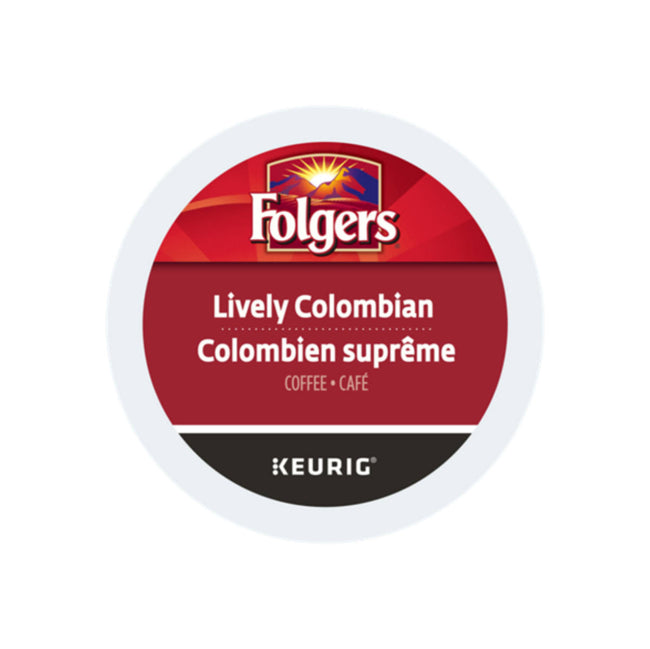 Folgers Gourmet Selections: Lively Colombian K-Cup® Pods (Case of 96)