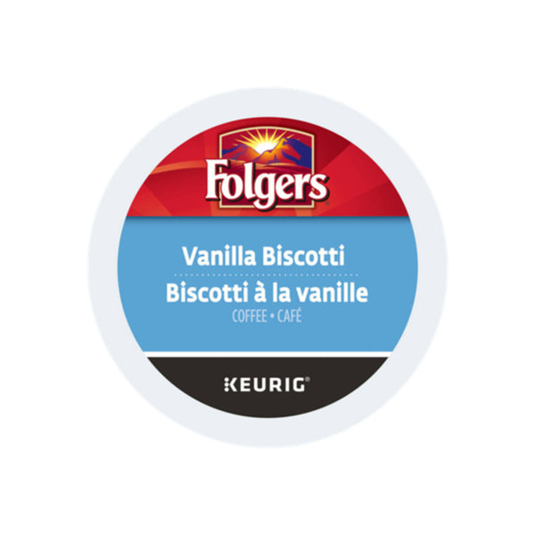 Folgers Gourmet Selections: Vanilla Biscotti K-Cup® Recyclable Pods (Box of 24)