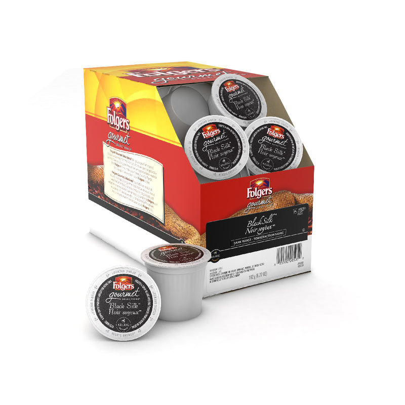 Folgers Gourmet Selections Black Silk K-Cup® Recyclable Pods (Case of 96)