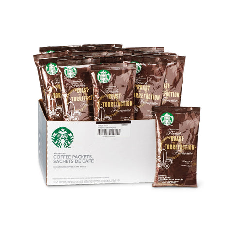 Starbucks French Roast Ground Coffee Packets (Box of 18 X 2.5oz)