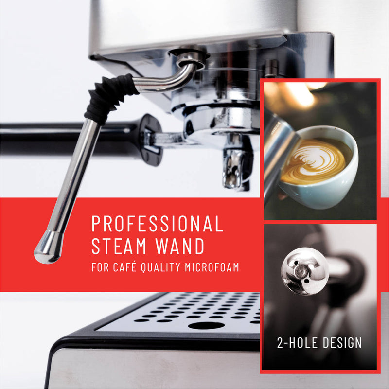 Gaggia Classic Pro Espresso Machine Professional 2-Hole Steam Wand
