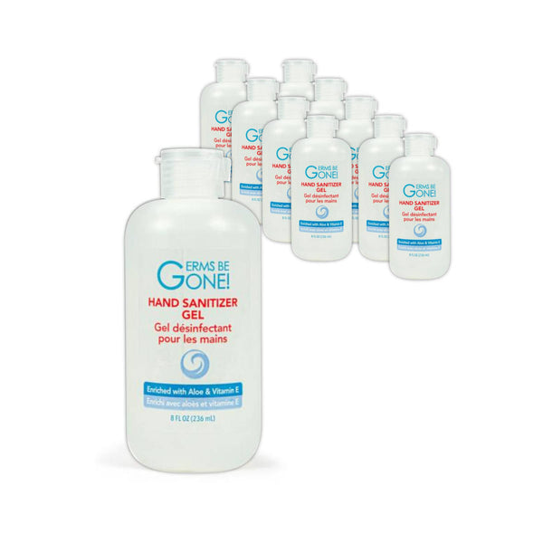 Germs Be Gone! Hand Sanitizer Gel (Bulk 10 Bottles -  80oz / 2.4L)