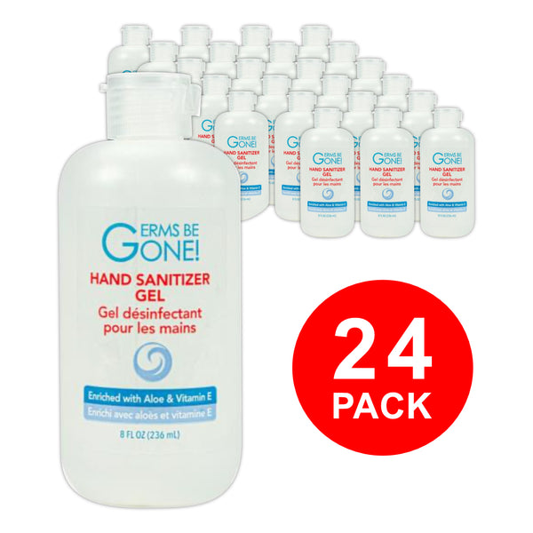 Germs Be Gone! Hand Sanitizer Gel (Bulk 24 Bottles -  192oz / 5.75L)