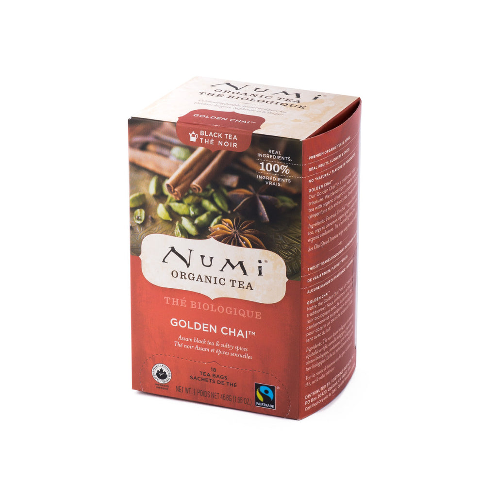 Numi Organic Golden Chai Tea Bags