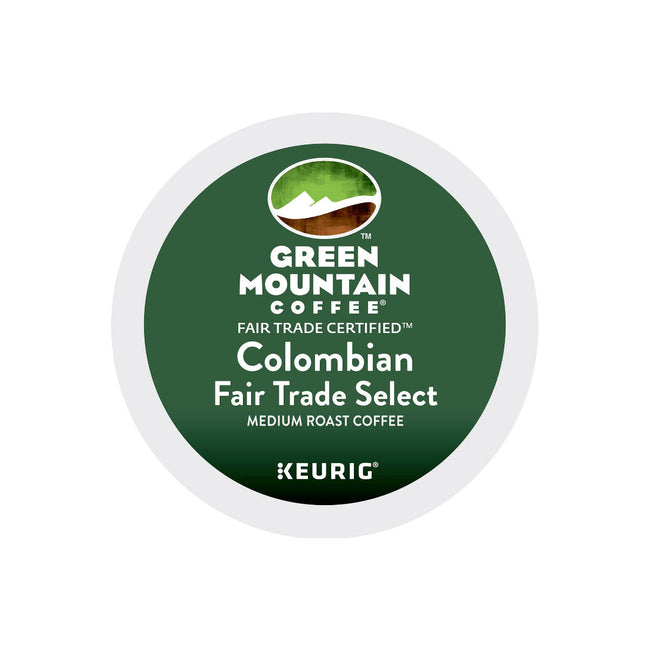 Green Mountain Fair Trade Colombia Select Single-Origin K-Cup® Recyclable Pods (Box of 24)