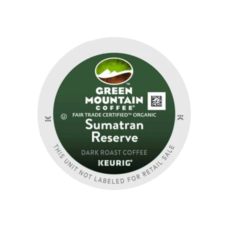Green Mountain Sumatra Reserve Single-Origin K-Cup® Recyclable Pods (Box of 24)