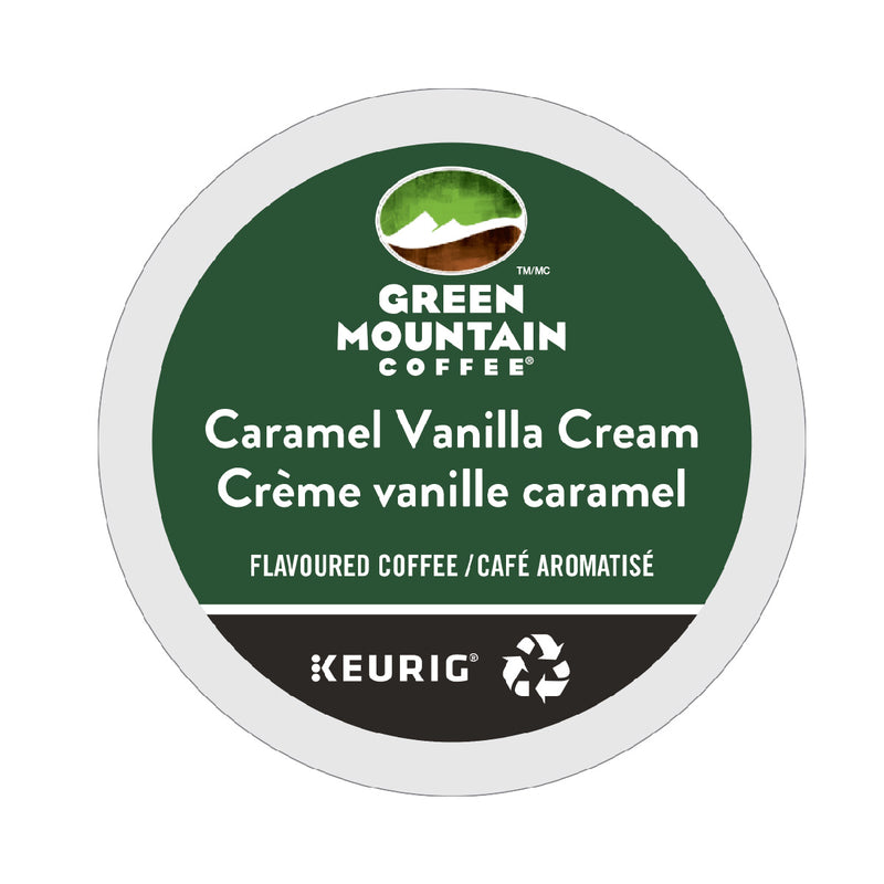 Green Mountain Caramel Vanilla Cream K-Cup® Recyclable Pods (Box of 24)