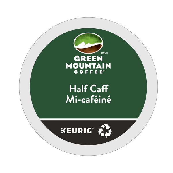 Green Mountain Half-Caff K-Cup® Recyclable Pods (Box of 24)