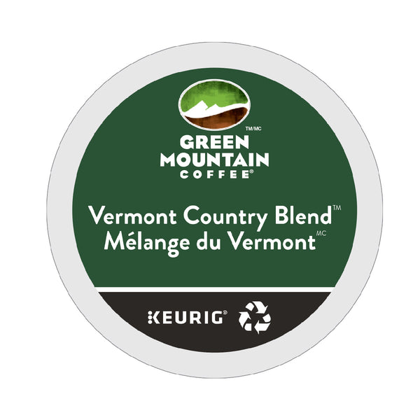 Green Mountain Vermont Country Blend K-Cup® Recyclable Pods (Box of 24)