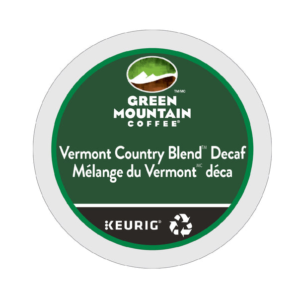 Green Mountain Decaf Vermont Country Blend K-Cup® Recyclable Pods (Box of 24)