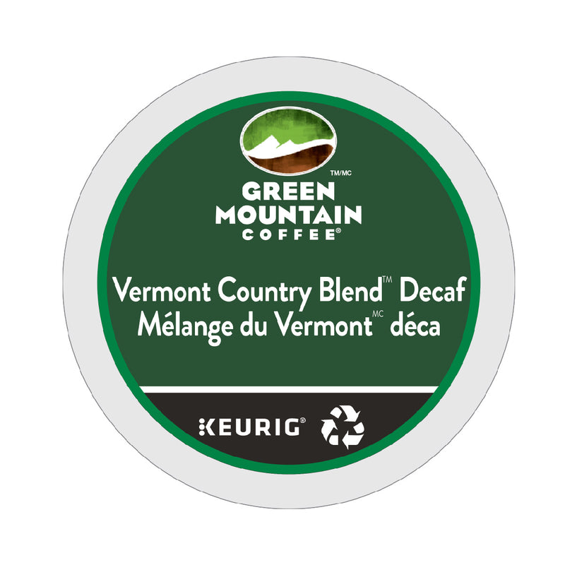Green Mountain Decaf Vermont Country Blend K-Cup® Recyclable Pods (Case of 96)