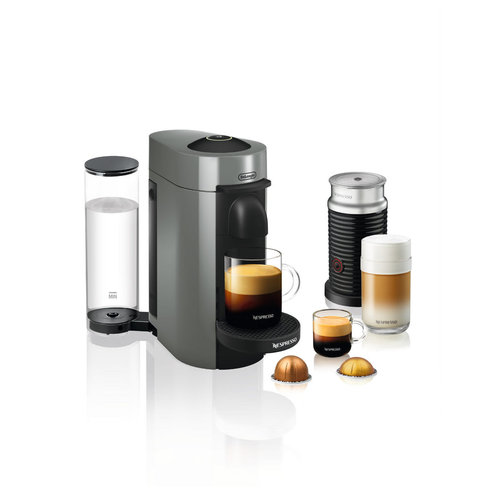 Nespresso by DeLonghi VertuoPlus With Aerroccino 3 in Grey