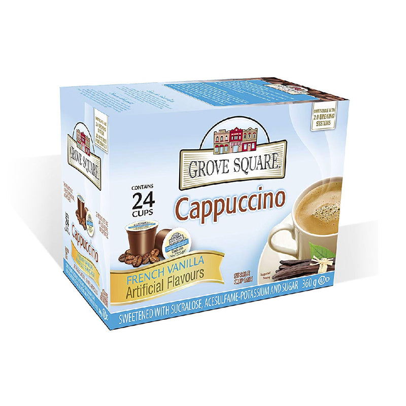 Grove Square French Vanilla Cappuccino Mix Single Serve Coffee Pods (Box of 24)