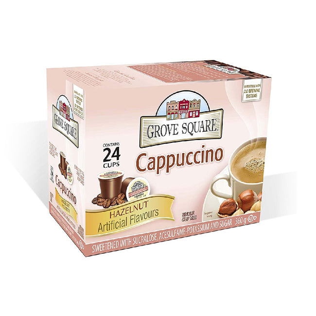 Grove Square Hazelnut Cappuccino Single Serve Coffee Pods (Box of 24)