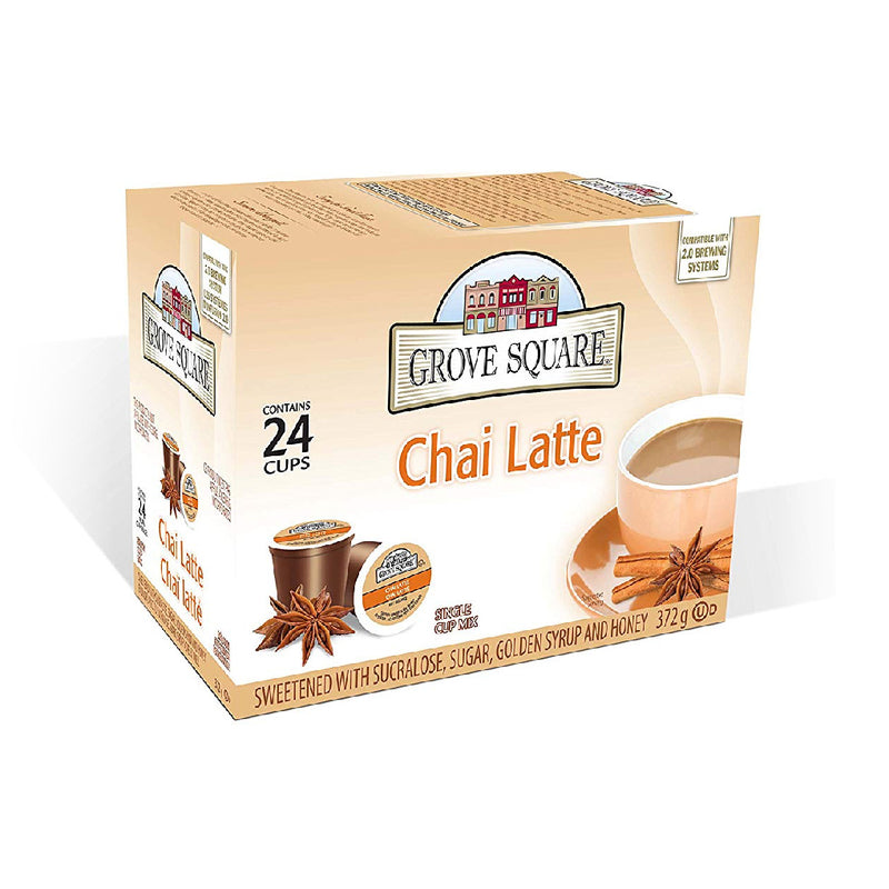 Grove Square Chai Latte Single Serve Coffee Pods (Case of 96)