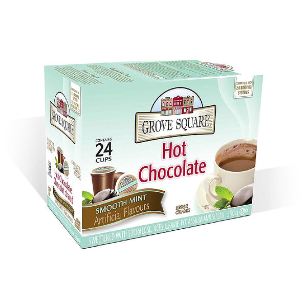 Grove Square Mint Hot Chocolate Single Serve Pods (Box of 24)
