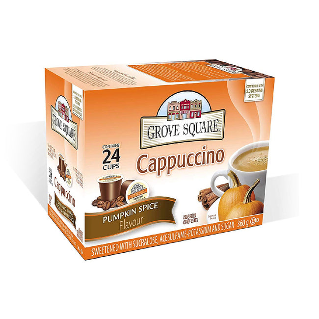 Grove Square Pumpkin Spice Cappuccino Single Serve Coffee Pods (Box of 24)