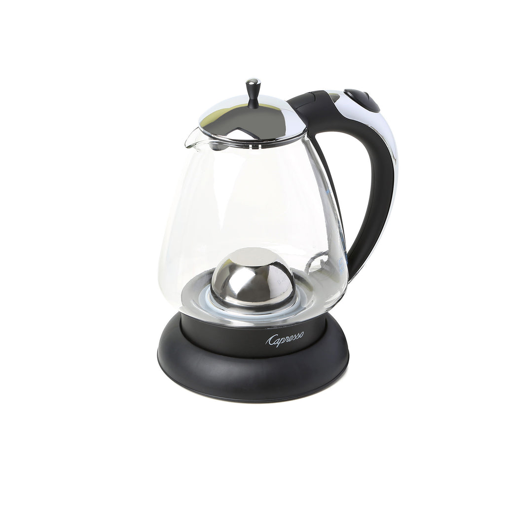 Capresso H2O Plus Glass Water Kettle (Black / Stainless Steel)