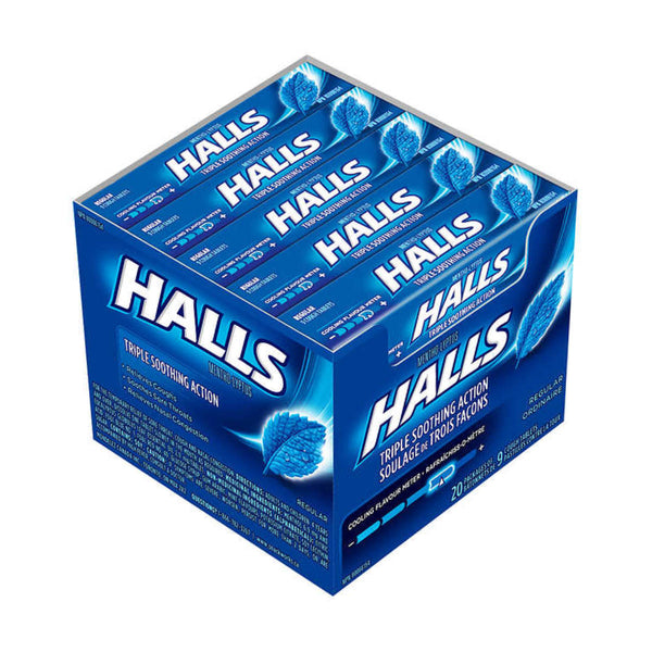 Halls Triple Soothing Action Cough Drops Bulk (20 Packs of 9)