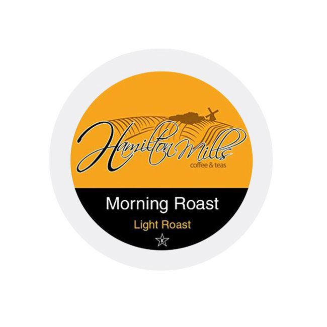 Hamilton Mills Morning Roast Single-Serve Coffee Pods (Box of 24)